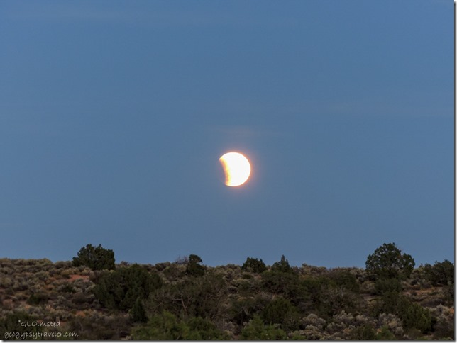 Lunar eclipse Hovenweep National Monument Utah