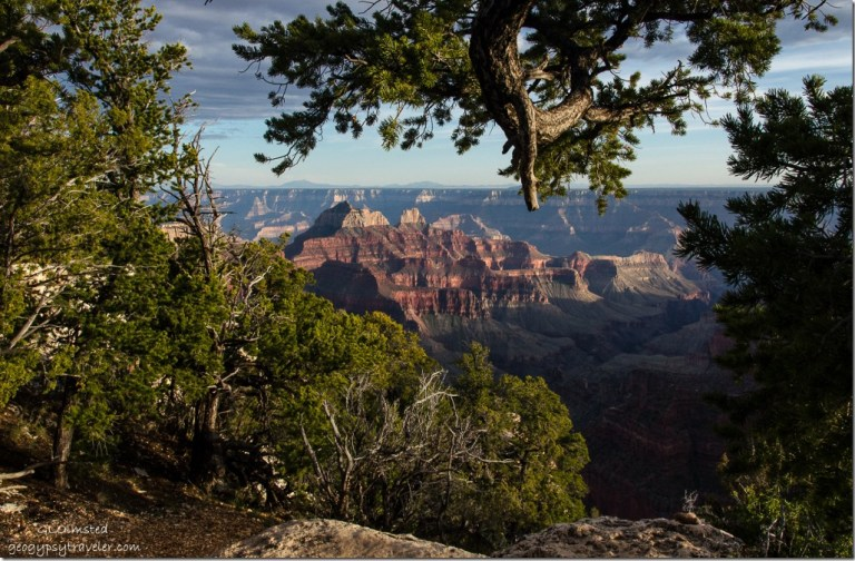 Canyon view from Bright Angel Point trail North Rim Grand Canyon National Park Arizona