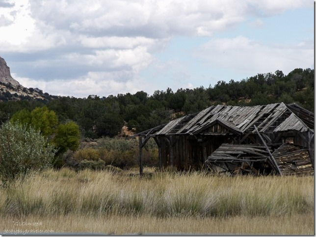 Old movie set along Johnson Canyon Road Utah