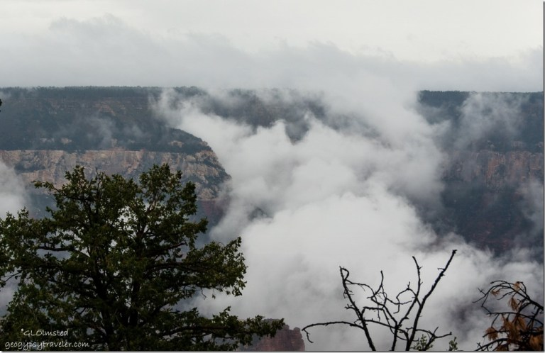 Inversion Roaring Springs Canyon North Rim Grand Canyon National Park Arizona