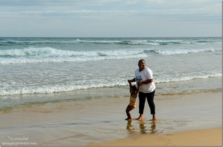 Bongi & Ceth on the beach at Tsitsikamma National Park Nature's Valley South Africa