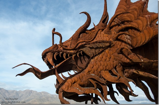 Serpent metal sculpture by Ricardo Breceda Galleta Meadows Borrego Springs California