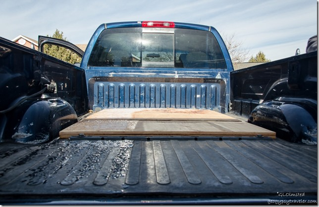 Wood in truck bed Kanab Utah
