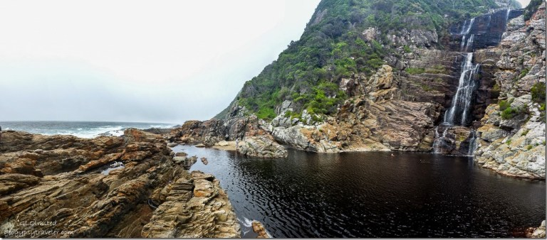 Indian Ocean & drop pool at Waterfall Waterfall trail Tsitsikamma National Park South Africa