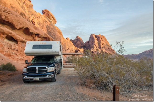 Truckcamper site #2 Atalatal campground Valley of Fire State Park Nevada
