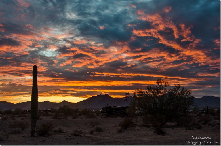 Sunset Quartzsite Arizona