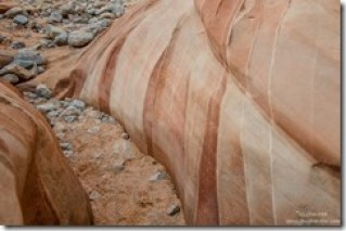 Bedding planes White Domes trail Valley of Fire State Park Nevada