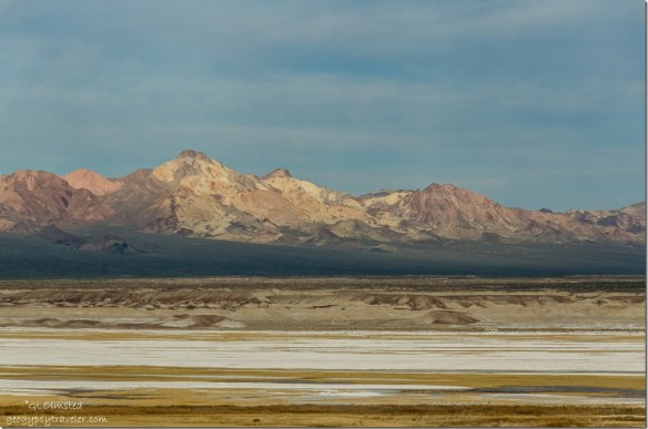 View west Tecopa hot springs campground Tecopa California