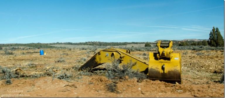 Machinery for chaining BLM Utah
