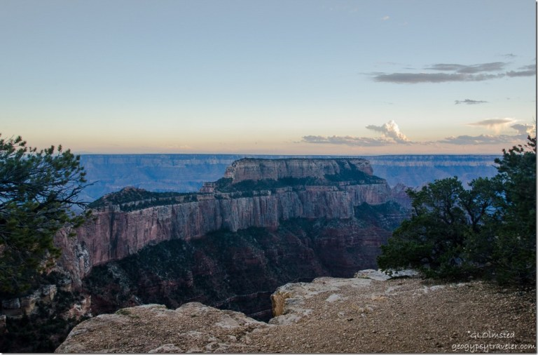 Wotans Throne from Wedding site Cape Royal North Rim Grand Canyon National Park Arizona