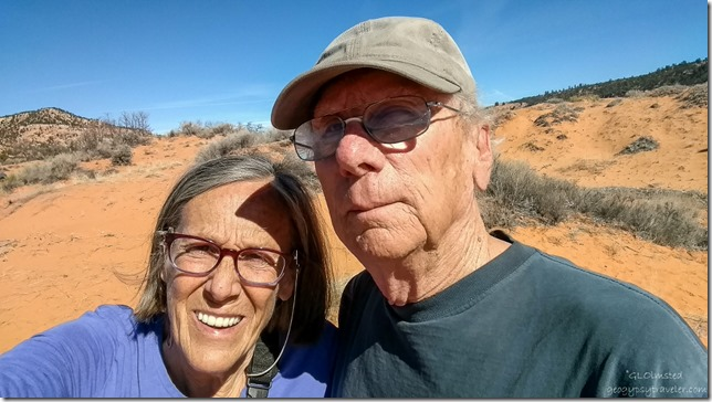 Gaelyn & Bill Coral Pink Sand Dunes State Park Utah