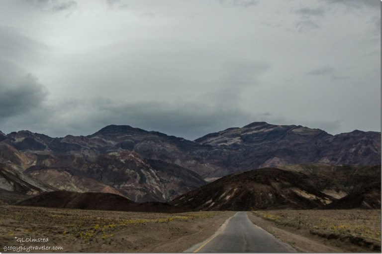 Storm clouds Artists Drive Death Valley National Park California