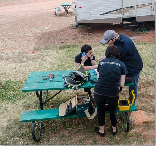 Tiara, Jordan & Gabriel picnic table Kanab Utah