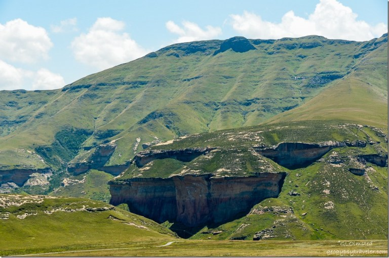 View from loop drive Golden Gate Highlands National Park R712 South Africa