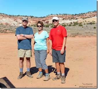 Bill Pam John White Pocket parking Vermilion Cliffs National Monument Arizona