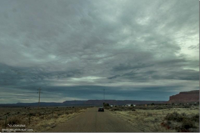 Stormy sky old SR89 Kanab Utah