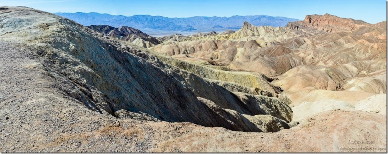 View West Zabriskie Point Death Valley National Park California