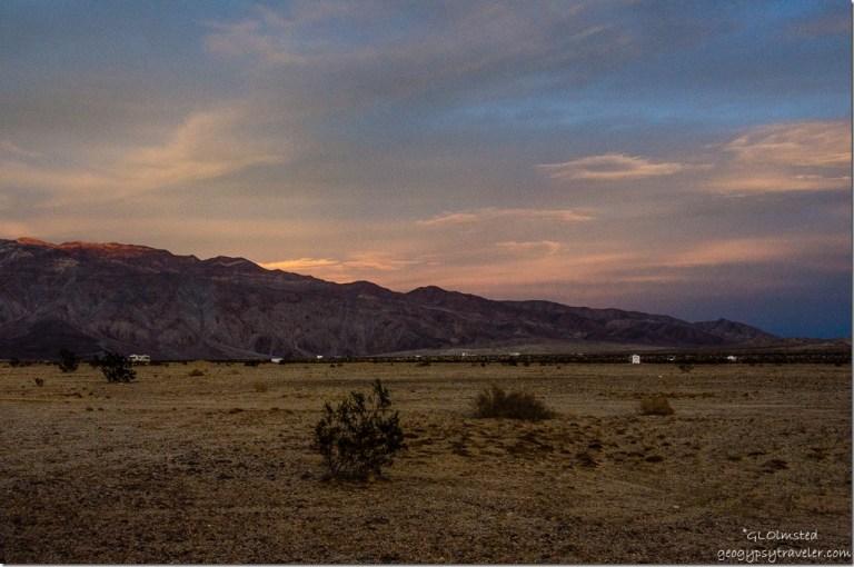 Sunset over Santa Rosa Mountains Anza-Borrego Desert State Park California