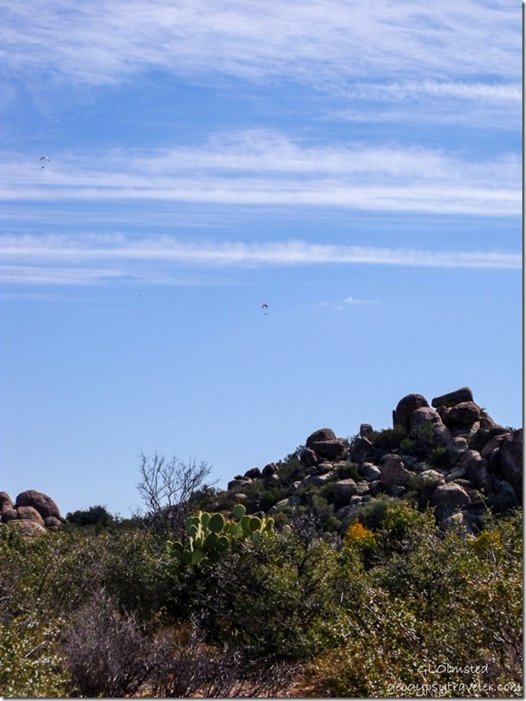 Parasails above Weaver Mountains Yarnell Arizona