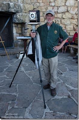 Artist in residence Robert Langham Lodge veranda North Rim Grand Canyon National Park Arizona