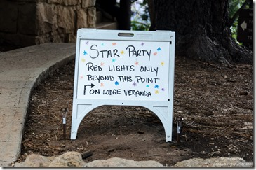 Star Party sign North Rim Grand Canyon National Park Arizona