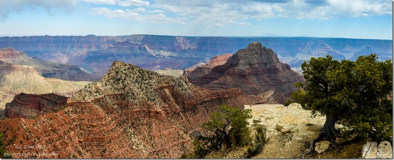 Freya's Castle & Vishnu Temple from Cape Royal North Rim Grand Canyon National Park Arizona