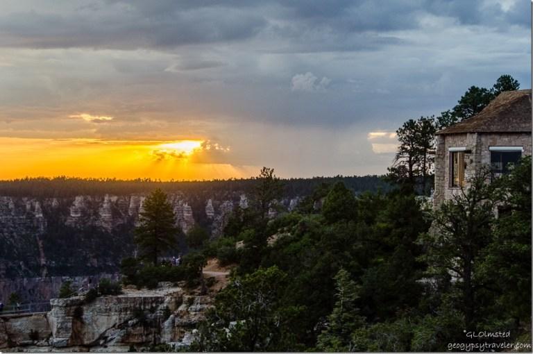 Sunset & Lodge North Rim Grand Canyon National Park Arizona