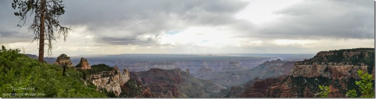 Stormy view East Roosevelt Point North Rim Grand Canyon National Park Arizona