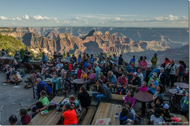 Crowd & canyon Heritage Days North Rim Grand Canyon National Park Arizona