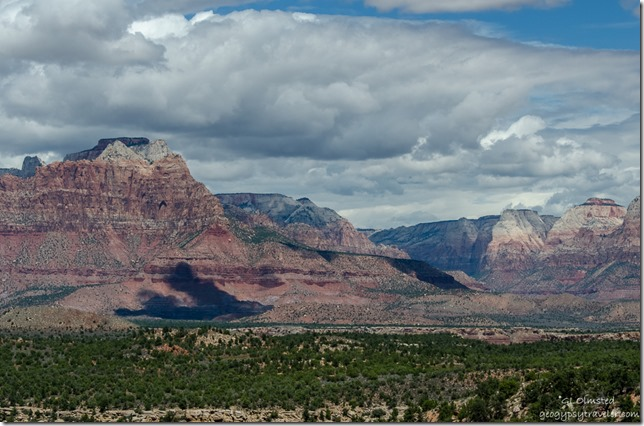 Zion National Park from Smithsonian Butte Road Scenic Backway Utah