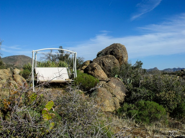 Swing amongst the boulders Weaver Mountains Yarnell Arizona