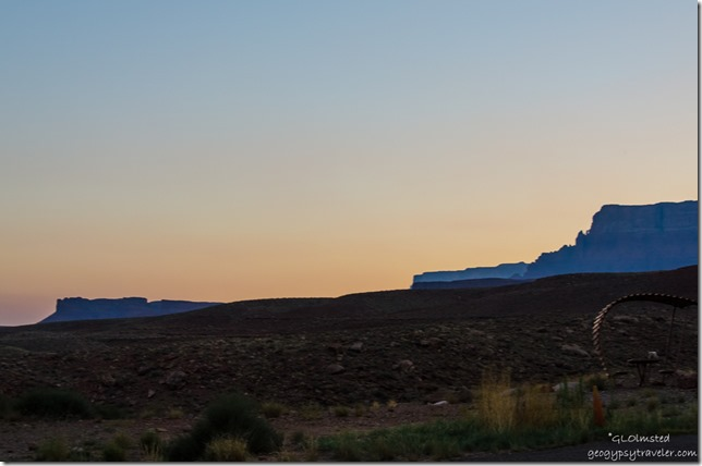 Sunset Vermilion Cliffs from Lee's Ferry campground Glen Canyon National Recreation Area Arizona