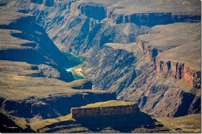 Crystal Rapid Colorado River view from Point Sublime North Rim Grand Canyon National Park Arizona