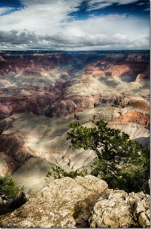 Bright Angel canyon & North Rim from South Rim Grand Canyon National Park Arizona