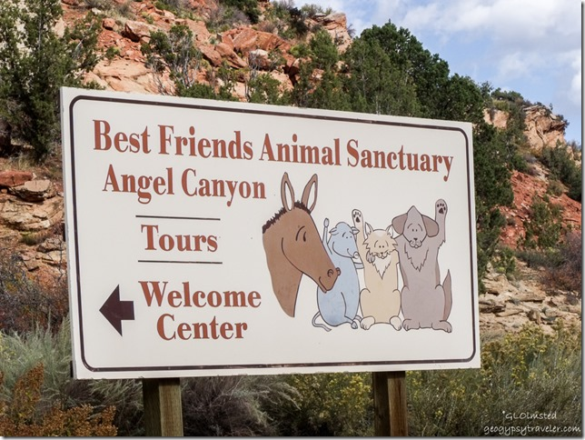 Sign at Best Friends Animal Sanctuary Kanab Utah