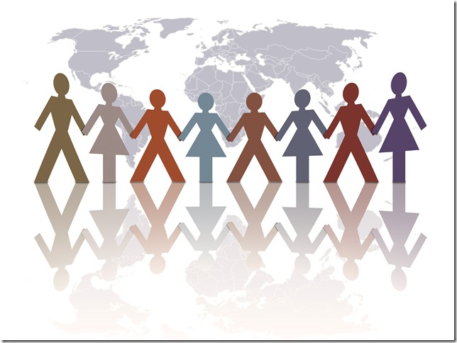 diversity of world humans illus