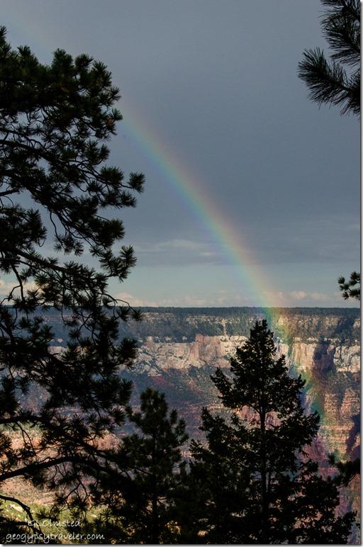 Rainbow in Roaring Springs Canyon North Rim Grand Canyon National Park Arizona