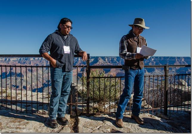 Hopi Lyle Balenquah and Navajo Jason Nez GRCA History Symposium South Rim Grand Canyon National Park Arizona