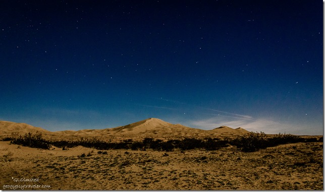 Stars over Kelso Dunes Mojave National Park California