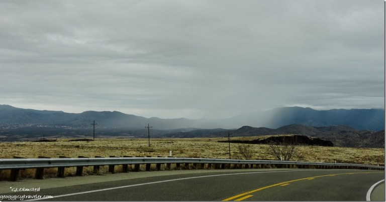 Rain clouds Bradshaw Mountains SR89 North Arizona