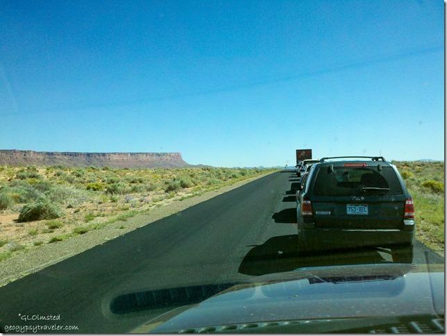 Vermilion Cliffs & road construction SR89A East Arizona