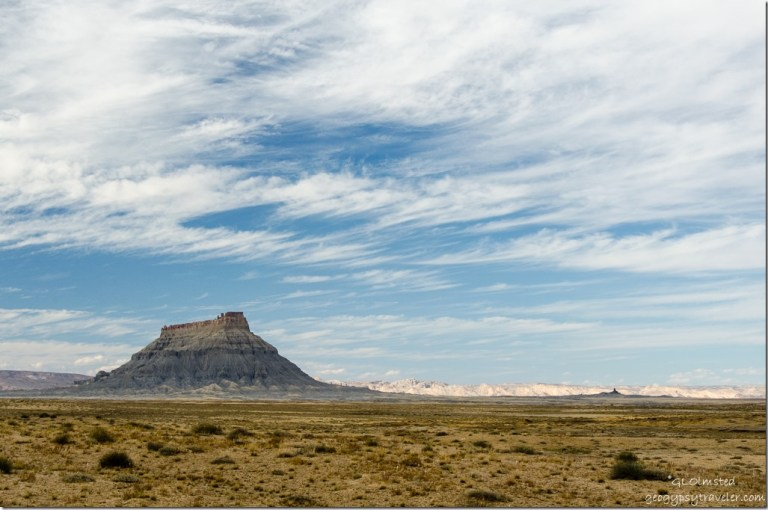 Factory Butte Capitol Reef Country Scenic Byway UT24 West Utah