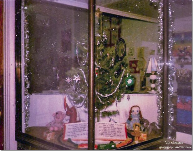 3rd storefront Christmas window display Tonasket Washington