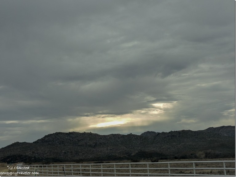 Stormy sky Weaver Mountains SR89 Peeples Valley Arizona
