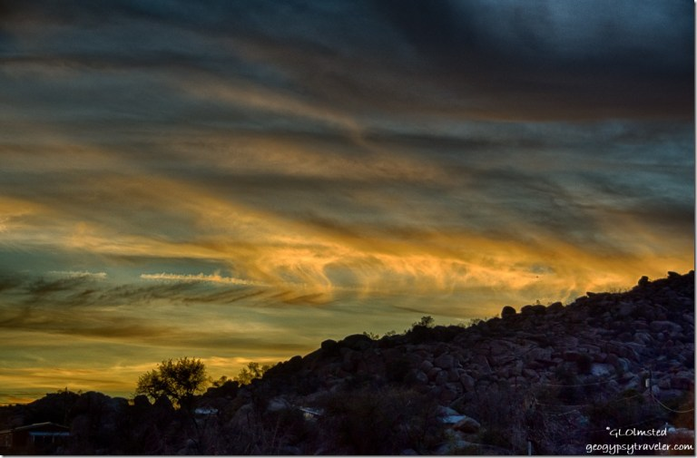 Sunset Weaver Mountains Yarnell Arizona