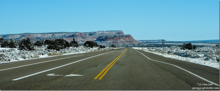 Snow Vermilion Cliffs SR89 East Utah
