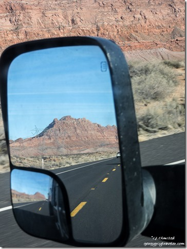 Side mirror Echo Cliffs SR89 the Gap Arizona