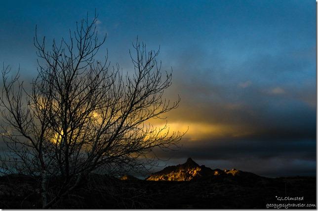 Sunset last light Martin Mountain Kirkland Arizona