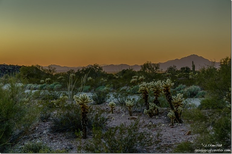 Sunset from Palm Canyon Road KOFA National Wildlife Refuge Arizona