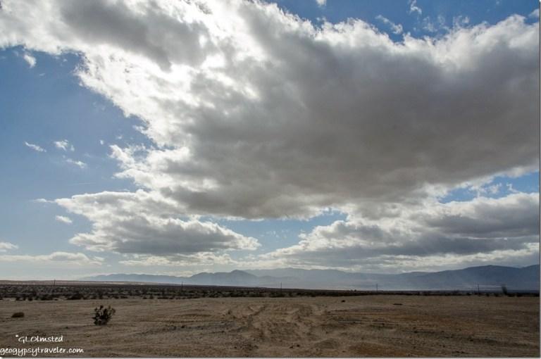 Big clouds over Vallecito Mounaints Anza-Borrego Desert State Park California